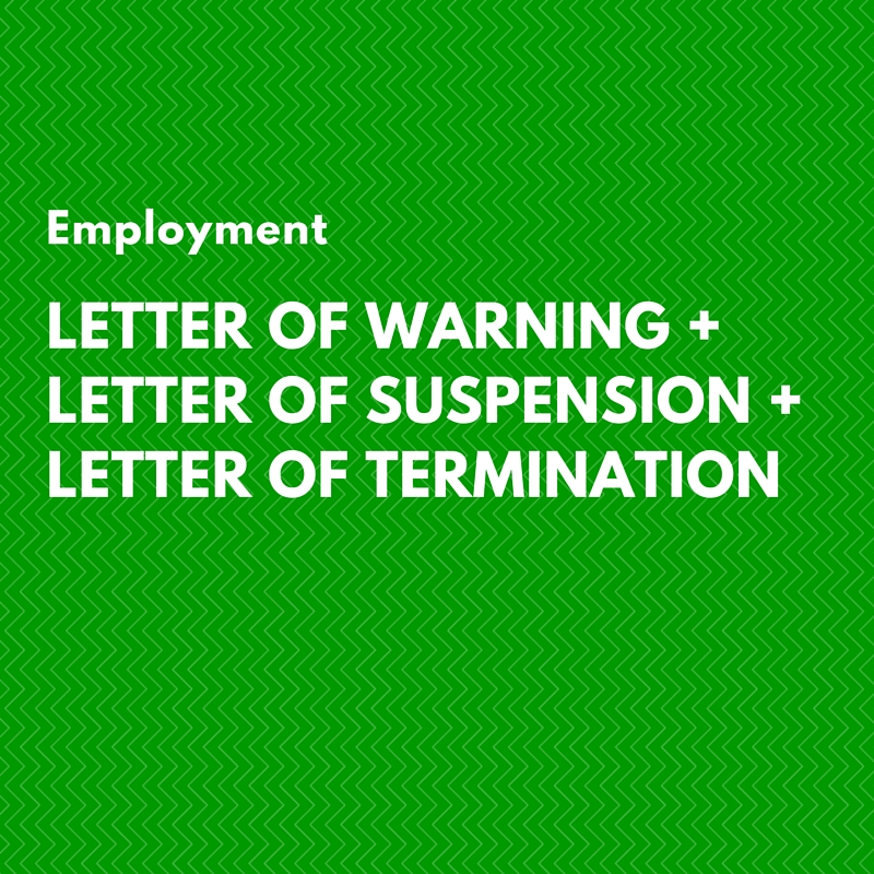 Letter of warning letter of suspension letter of termination employment letter of warning suspension termination spiritdancerdesigns Choice Image